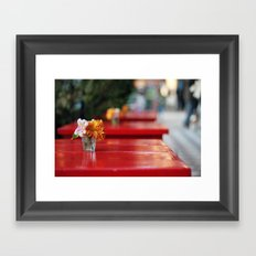 The red table Framed Art Print
