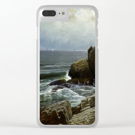 Castle Rock, Marblehead, 1878 by Alfred Thompson Bricher Clear iPhone Case