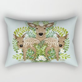 Cute Fawn Damask Rectangular Pillow