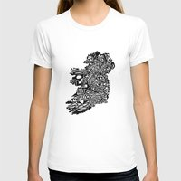 ireland T-shirts featuring Typographic Ireland by CAPow!
