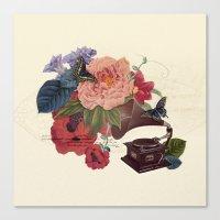 flora Canvas Prints featuring FLORA by Pepper / Shop