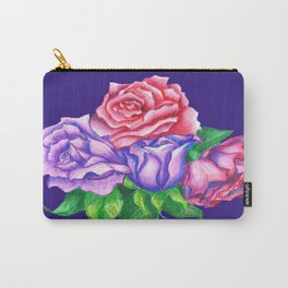 Purple Passion Roses Carry-All Pouch