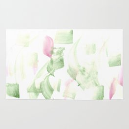 180515 Abstract WP 2 | Watercolor Brush Strokes Rug