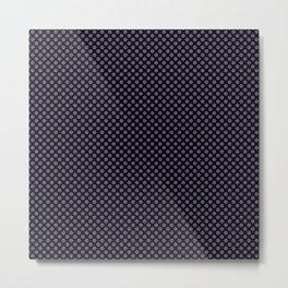 Black and Imperial Palace Polka Dots Metal Print