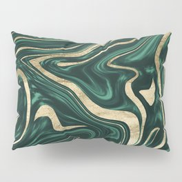 Emerald Green Black Gold Marble #1 #decor #art #society6 Pillow Sham