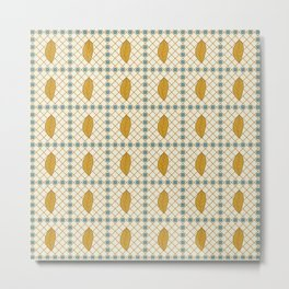 African abstract seamless pattern with different elements Metal Print