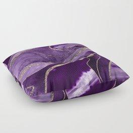Purple Marble Agate Gold Glitter Glam #1 (Faux Glitter) #decor #art #society6 Floor Pillow