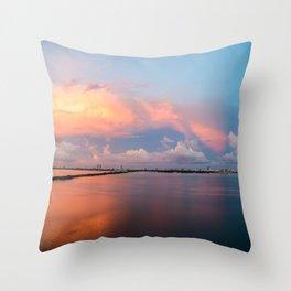 Mirror bay Throw Pillow
