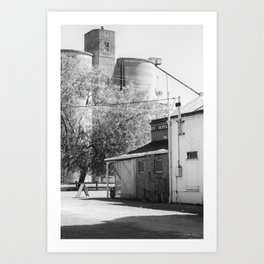 The Pub Across from the Silos Art Print