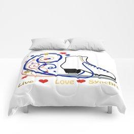 Live,Love,Synchro- Synchronized Figure Skating Design Comforters