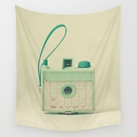 mint Wall Tapestries featuring Mint by Cassia Beck