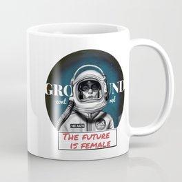 The Future is female space astronaut girl Coffee Mug