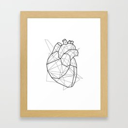 Vector Heart Framed Art Print