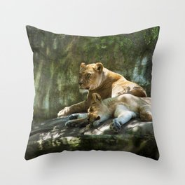 Portland Lioness Throw Pillow