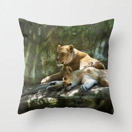 Portland Lioness Throw Pillow