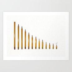 Life of a pencil Art Print