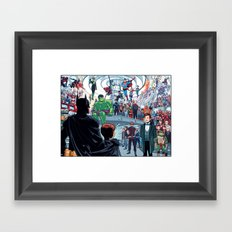 You'll Be Safe Here Framed Art Print