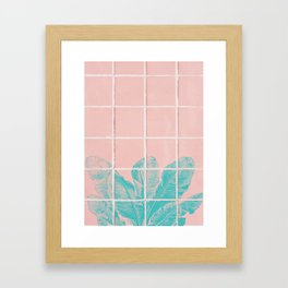 Blue Banana Plant Framed Art Print