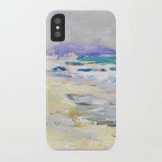 oil sea painting Slim Case iPhone X