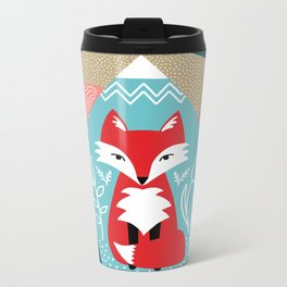 Winter Fox Metal Travel Mug