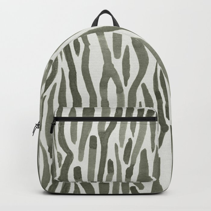 Simply Bonsai Lines in Green Tea and Lunar Gray Backpack