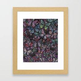 butterflies galore noir version Framed Art Print