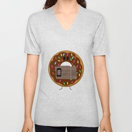 Not available on the app store: donut Unisex V-Neck