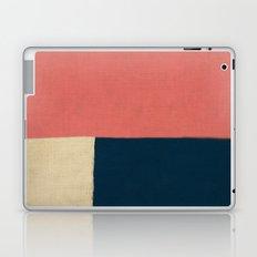 Salmon White Navy Blue Laptop & iPad Skin