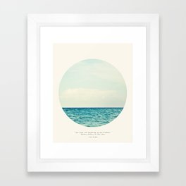 Salt Water Cure Framed Art Print