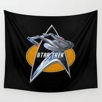 akira Wall Tapestries featuring StarTrek Akira  Command Signia Chest by Jamie Fontaine