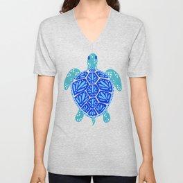 Sea Turtle – Blue Palette Unisex V-Neck
