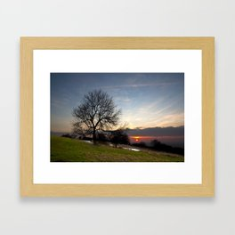 Chilterns Sunset Framed Art Print