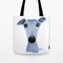 Nosey Dog Whippet Greyhound ' BLUEBELL ' by Shirley MacArthur Tote Bag