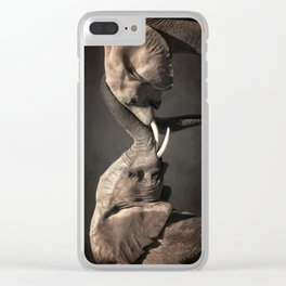 Two Elephants Clear iPhone Case