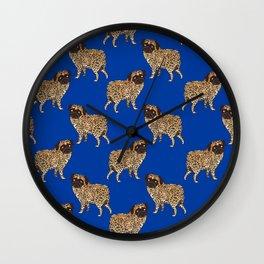 Pug Leopard Wall Clock