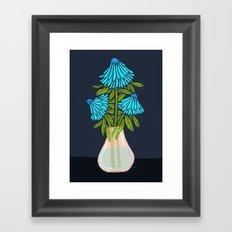 Blue Echinacea Framed Art Print