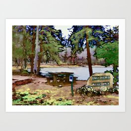 Lake Cheaha Art Print