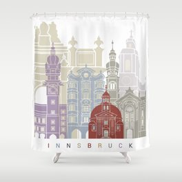 Innsbruck skyline poster Shower Curtain