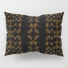 Dark Arabic Stripes Pattern Pillow Sham