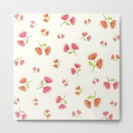 Bell Flowers – Floral Heart Collection Metal Print