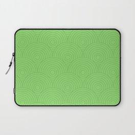 Circles Pattern - Green Laptop Sleeve