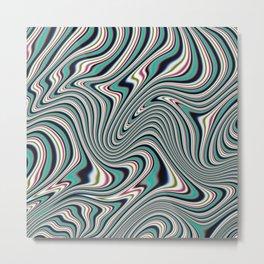 Colorful ink liquid marble Metal Print