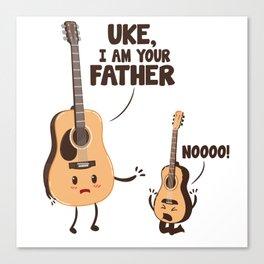UKE, I am your father noooo! Canvas Print