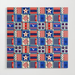 4th July Patchwork Wood Wall Art