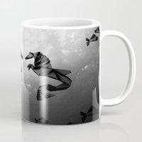 sea horse Mugs featuring Sea Horse by JPeG