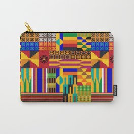 Blue African Kente Cloth Carry-All Pouch