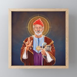 Saint Bill of Murray Framed Mini Art Print
