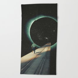 Escaping into the Void Beach Towel