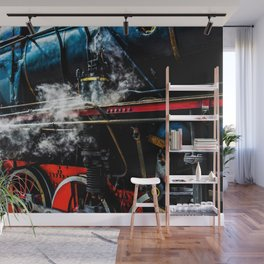 Stunning Vintage Steam Locomotive Wall Mural