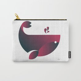 Whale - Watermelon Carry-All Pouch